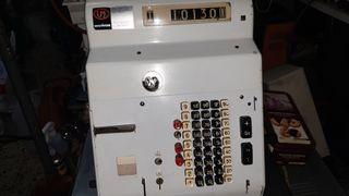 Antigua caja registradora mecanica Hugin 1960