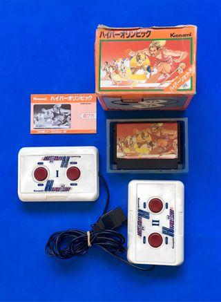 HYPER OLYMPIC + 2 mandos famicom nes 1983