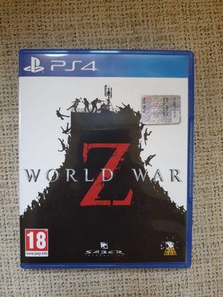 juego World war z ps4