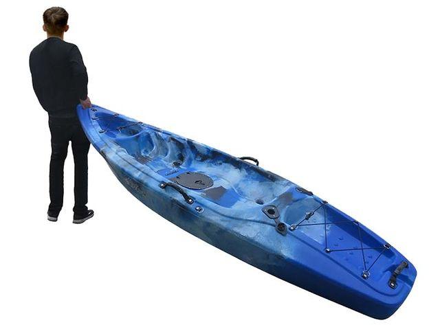 kayak de pesca + remo+asiento+rueda nuevo