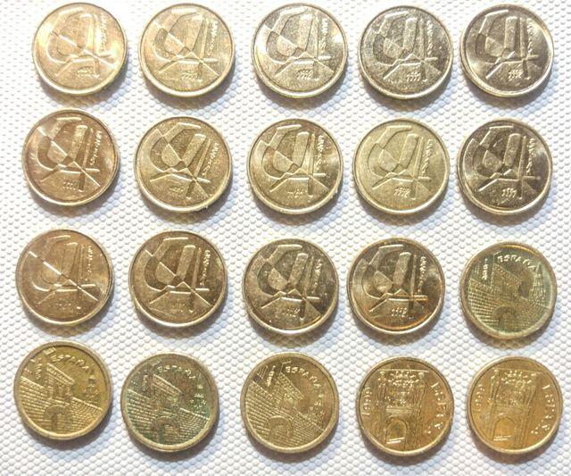 Lote de 20 monedas Españolas 5 Pesetas 1989-1998
