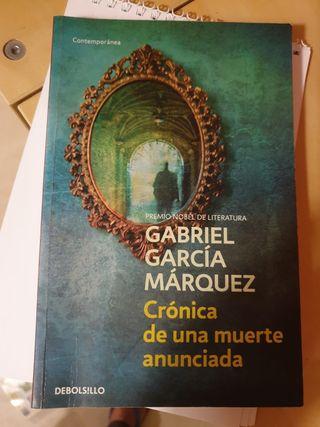 """Libro """"Crónica de una muerte anunciada"""""""