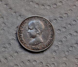 50 raros Céntimos de Peseta de 1889 (*8 *9)