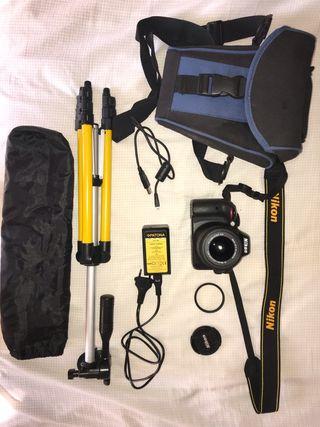 Cámara Nikon D3300 + accesorios