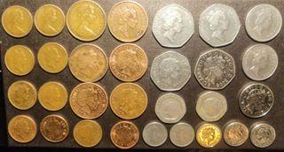 Lote de 30 monedas Gran Bretaña 1971-2013