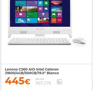 ordenador nuevo sobremesa Lenovo C260 nuevo