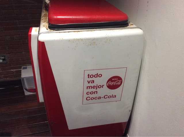 Nevera coca cola