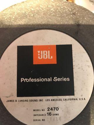 Jbl vintage y tad cajas y mas
