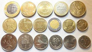 Lote de 17 varias monedas in pergecto estado
