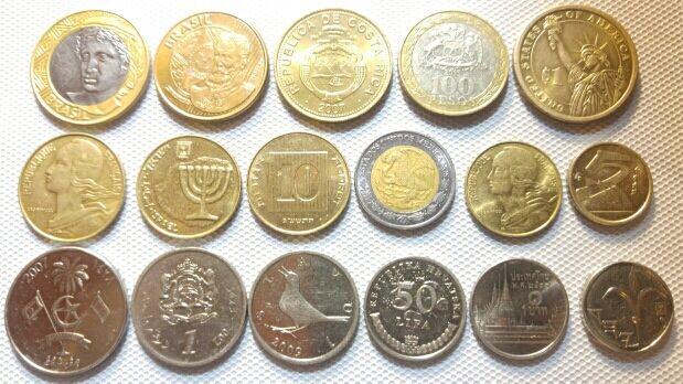 Lote de 17 varias monedas in perfecto estado