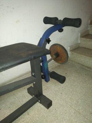 banco pesas 50kgs en pesas