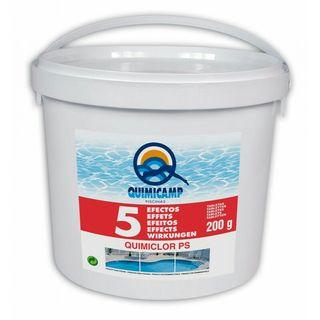 cloro quimicamp 5 efectos 13 kilos