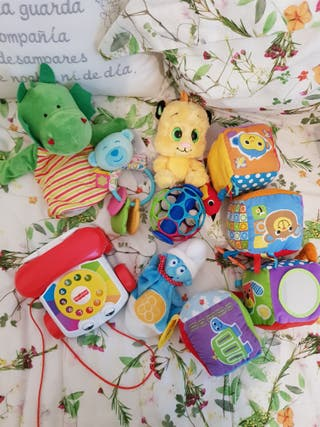 juguetes bebé. lote fisher price, oball, famosa...