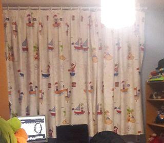 Conjunto cortinas y funda edredón infantil