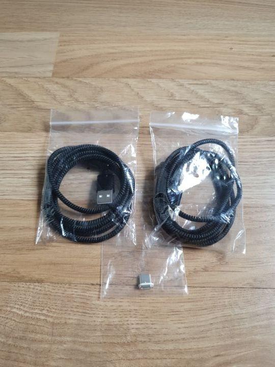2 cables magnéticos USB/tipo C para móviles