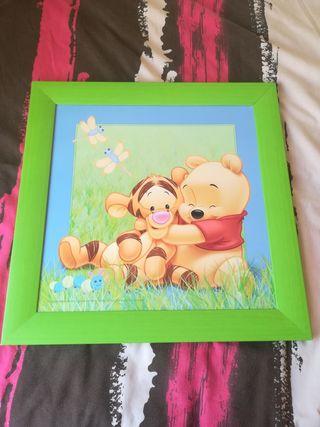 cuadro infantil de Winnie de pooh. oso