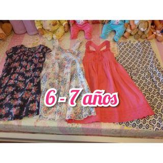 lote 4 vestidos niña 6_7 años