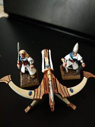 Lanzavirotes altos elfos Warhammer Fantasy