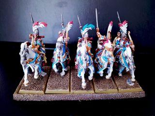 5 Guardianes de Ellyrion altos elfos Warhammer