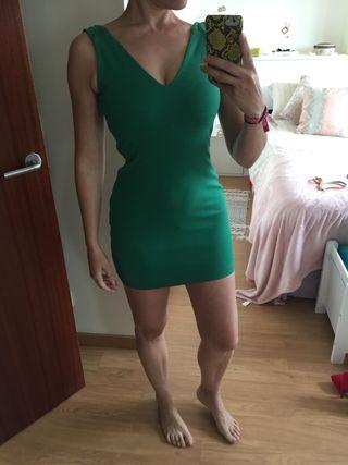 Vestido Zara verde
