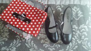 Zapatos tacon flamenca niña talla 36