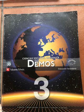 Libro ciencias sociales y geografía 3ESO
