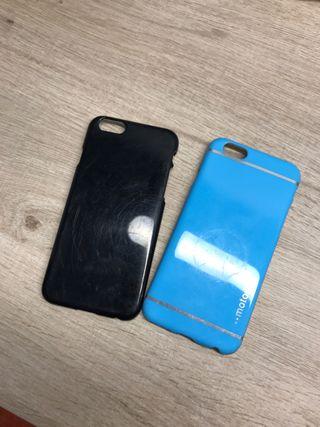 Fundas iphone 6 azul y negra