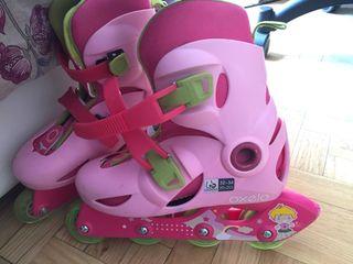 Pack patines y protecciones niña Oxelo