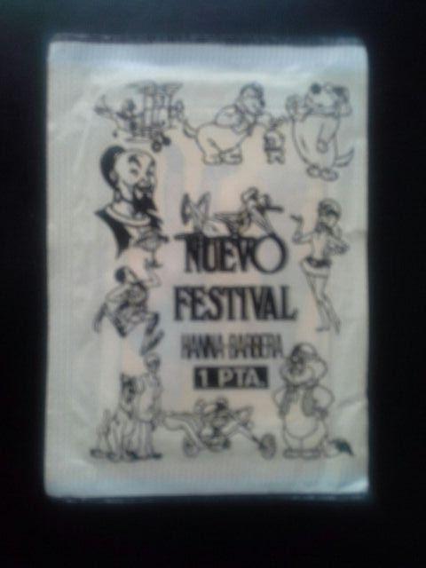 Sobre cromos Nuevo Festival