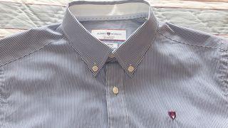 Camisa rayas azul chico de Álvaro Moreno