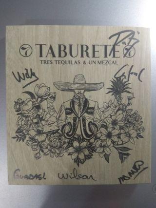Disco de Taburete firmado