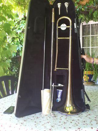 trombón de varas tenor simple yamaha ysl 354e
