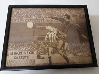 Johan Cruyff Autógrafo Firma Barça Original