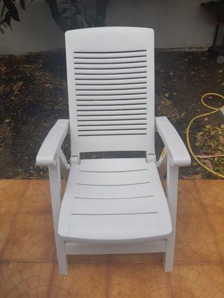Silla Terraza reclinable blanca
