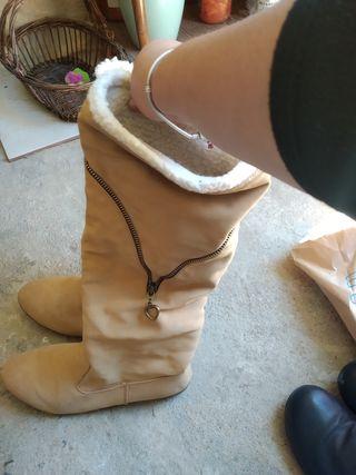 botas corazón camel