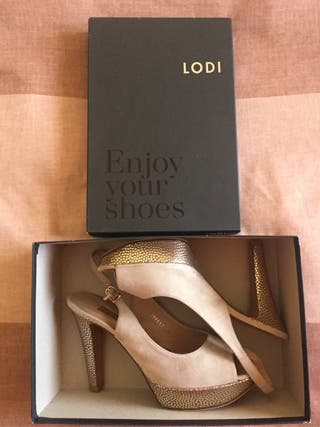 Zapatos de fiesta LODI dorados N.39