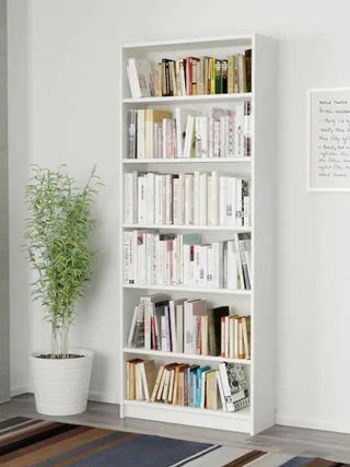 Librería estantería blanca