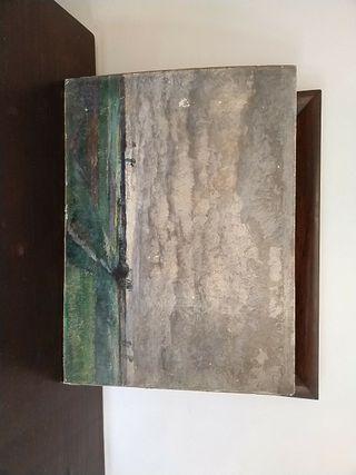 pintura antigua de paisaje