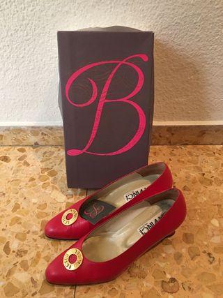 Zapato PIEL rojos BELMI Talla 37