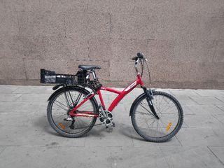 bicicleta adulto (ideal chica) b'twin roja