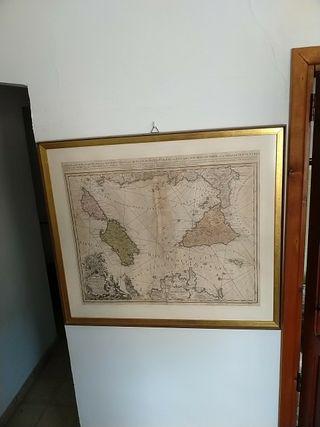 Cuadro antiguo, reino de Sicilia y sardegna