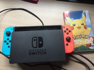 Vendo Nintendo switch con Pokémon