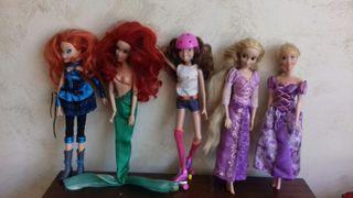 lote muñecas disney