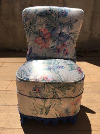 Sillon tapizado flores