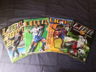 4 álbumes de cromos de la liga de fútbol completos
