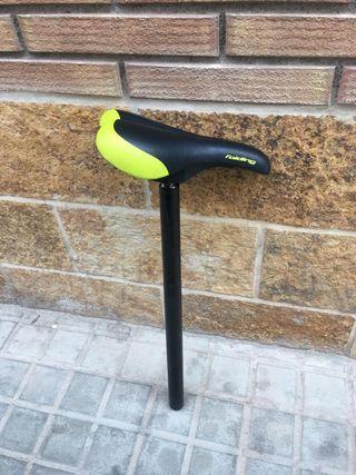 sillín de bicicleta plegable