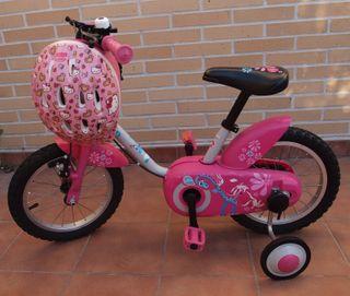 BICICLETA INFANTIL BTWIN 14'' CON CASCO