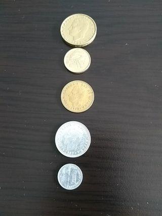 Surtido monedas pesetas españolas