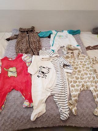 Lote 5 pijamas bebe.