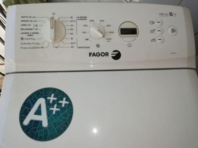 Lavadora Fagor carga superior 6kg 1.200 rev